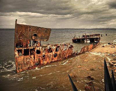 Hmqs Gayundah Wreck Poster by Tony Steinberg
