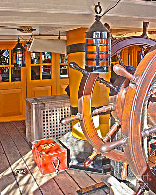 Hms Victory Hdr Poster by Terri Waters