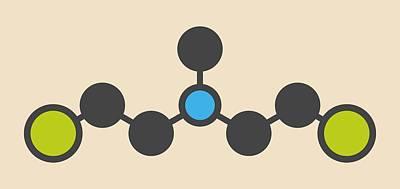 Hn2 Nitrogen Mustard Molecule Poster