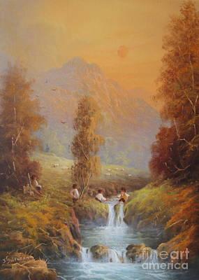 Hobbit Mischief Set For A Fall Poster by Joe  Gilronan