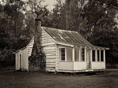 Hobcaw Cabin In Sepia Poster by Sandra Anderson