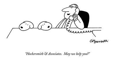 Hockersmith & Associates.  May We Help You? Poster