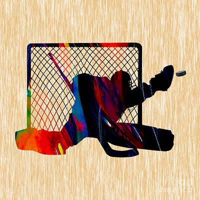 Hockey Goalie Poster by Marvin Blaine