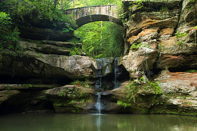Hocking Hills Waterfall 1 Poster by Chris Flees