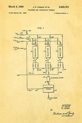Hogan Polypropylene Patent Art 1958 Poster