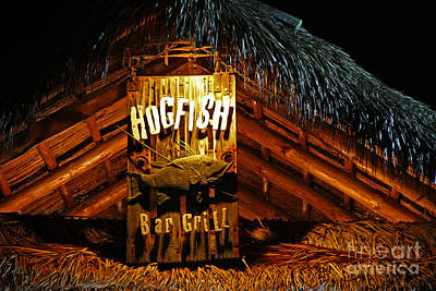 Hogfish Bar Grill Poster by Rick Bravo