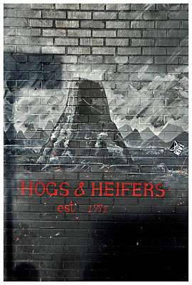Hogs And Heifers Saloon Poster