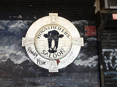 Hogs And Heifers Saloon Sign New York Poster