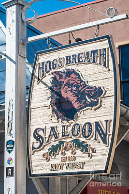 Hog's Breath Saloon 2 Key West Poster by Ian Monk