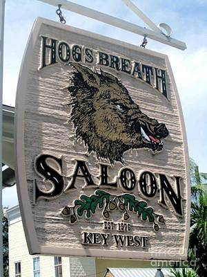 Poster featuring the photograph Hog's Breath Saloon by Fiona Kennard