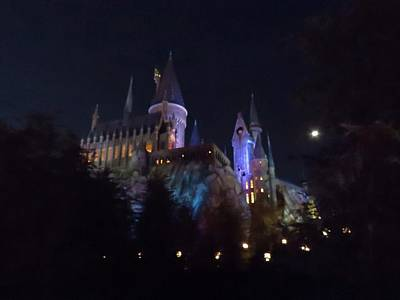 Hogwarts Castle In Lights Poster