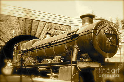 Hogwarts Express Sepia 1 Poster by Shelley Overton