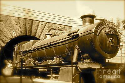 Hogwarts Express Sepia 1 Poster