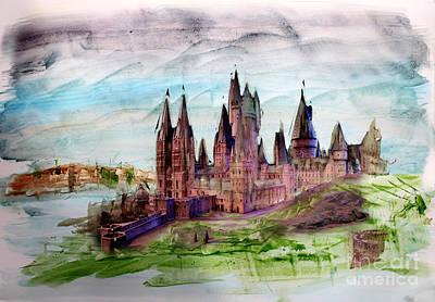 Hogwarts Poster by Roger Lighterness