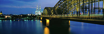 Hohenzollern Bridge And Cologne Poster by Panoramic Images