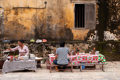 Hoi An Noodle Stall 03 Poster by Rick Piper Photography