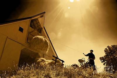 Hoisting Hay Poster