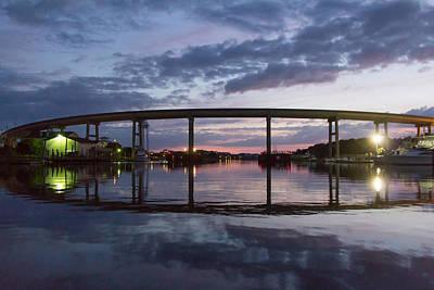 Holden Beach Bridge After Sunset 2 Poster