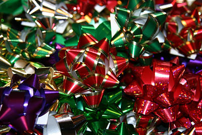 Poster featuring the photograph Holiday Bows by Denyse Duhaime
