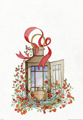 Holiday Lantern I Poster by Kathleen Parr Mckenna