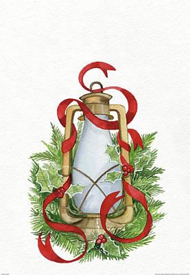 Holiday Lantern IIi Poster by Kathleen Parr Mckenna