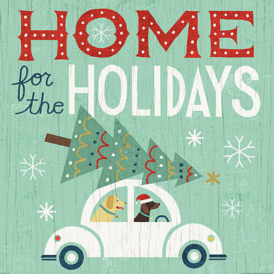 Holiday On Wheels I Poster by Michael Mullan