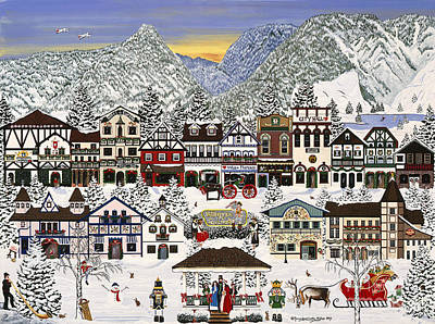 Holiday Village Poster by Jennifer Lake