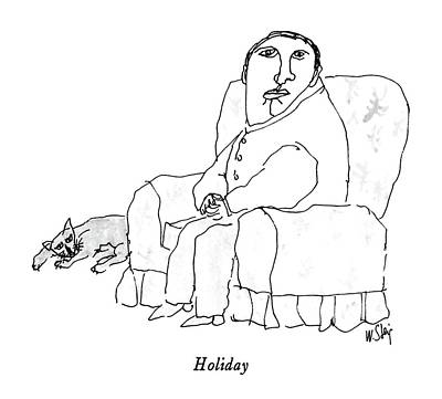 Holiday Poster by William Steig
