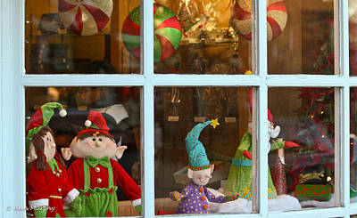 Poster featuring the photograph Holiday Window by Ann Murphy