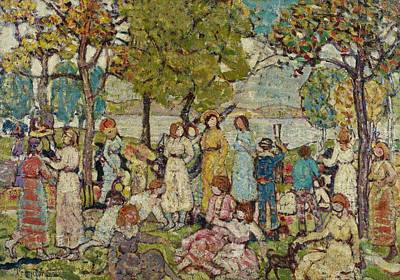 Holidays Poster by Maurice Brazil Prendergast