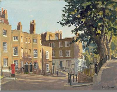 Holly Hill, Hampstead Oil On Canvas Poster by Julian Barrow