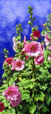 Hollyhock Haven Poster