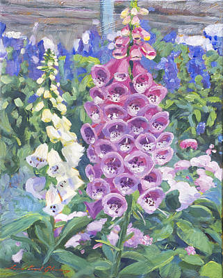 Foxglove Poster by David Lloyd Glover