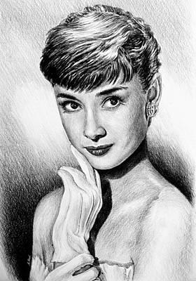 Hollywood Greats Hepburn Poster