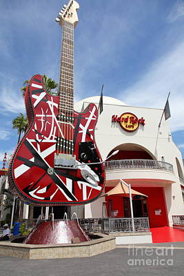 Hollywood Hard Rock Cafe In Los Angeles California 5d28422 Poster by Wingsdomain Art and Photography