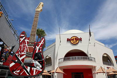 Hollywood Hard Rock Cafe In Los Angeles California 5d28429 Poster by Wingsdomain Art and Photography