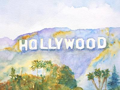 Hollywood Sign California Poster