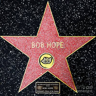 Hollywood Walk Of Fame Bob Hope 5d28954 Poster by Wingsdomain Art and Photography