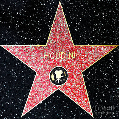Hollywood Walk Of Fame Harry Houdini 5d28966 Poster by Wingsdomain Art and Photography