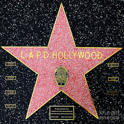 Hollywood Walk Of Fame Lapd Hollywood 5d28920 Poster by Wingsdomain Art and Photography