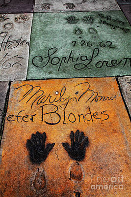Hollywood Walk Of Fame Marilyn Monroe 5d29043 Poster by Wingsdomain Art and Photography