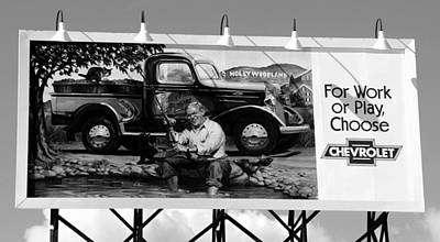 Hollywoodland Chevy Sign Poster by David Lee Thompson