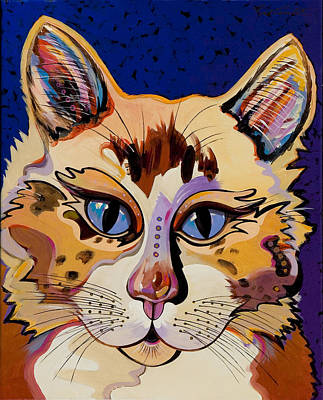 Poster featuring the painting Holy Cat by Bob Coonts