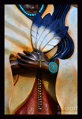 Holy Hands Of Kateri Tekakwitha Poster by Susanne Still