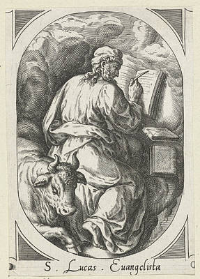 Holy Luke With Bull, Crispijn Van Den Broeck Poster by Quint Lox