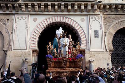 Holy Week Celebration In Cordoba Poster by Artur Bogacki