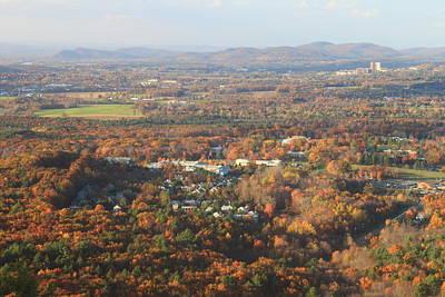 Holyoke Range Foliage View From Bare Mountain Poster by John Burk