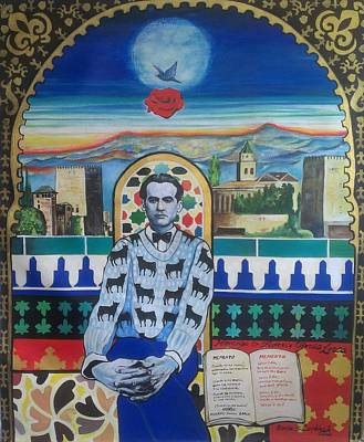 Homage To Garcia Lorca Poster by Karim Lachheb