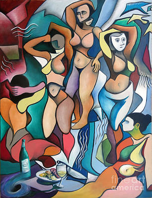Homage To Picasso's Les Demoiselles D'avignon Poster by Jeffrey Williams