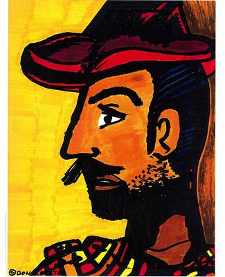 Poster featuring the drawing Hombre by Don Koester